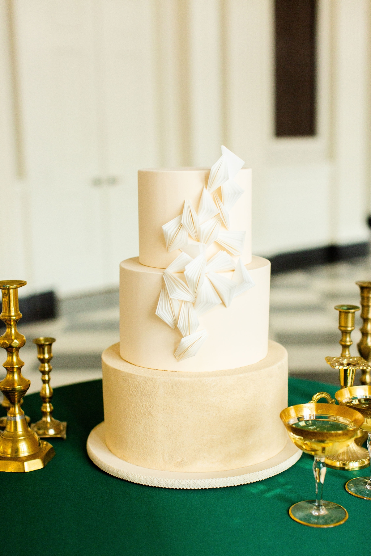 Chicago History Museum Wedding Inspiration Emerald Green