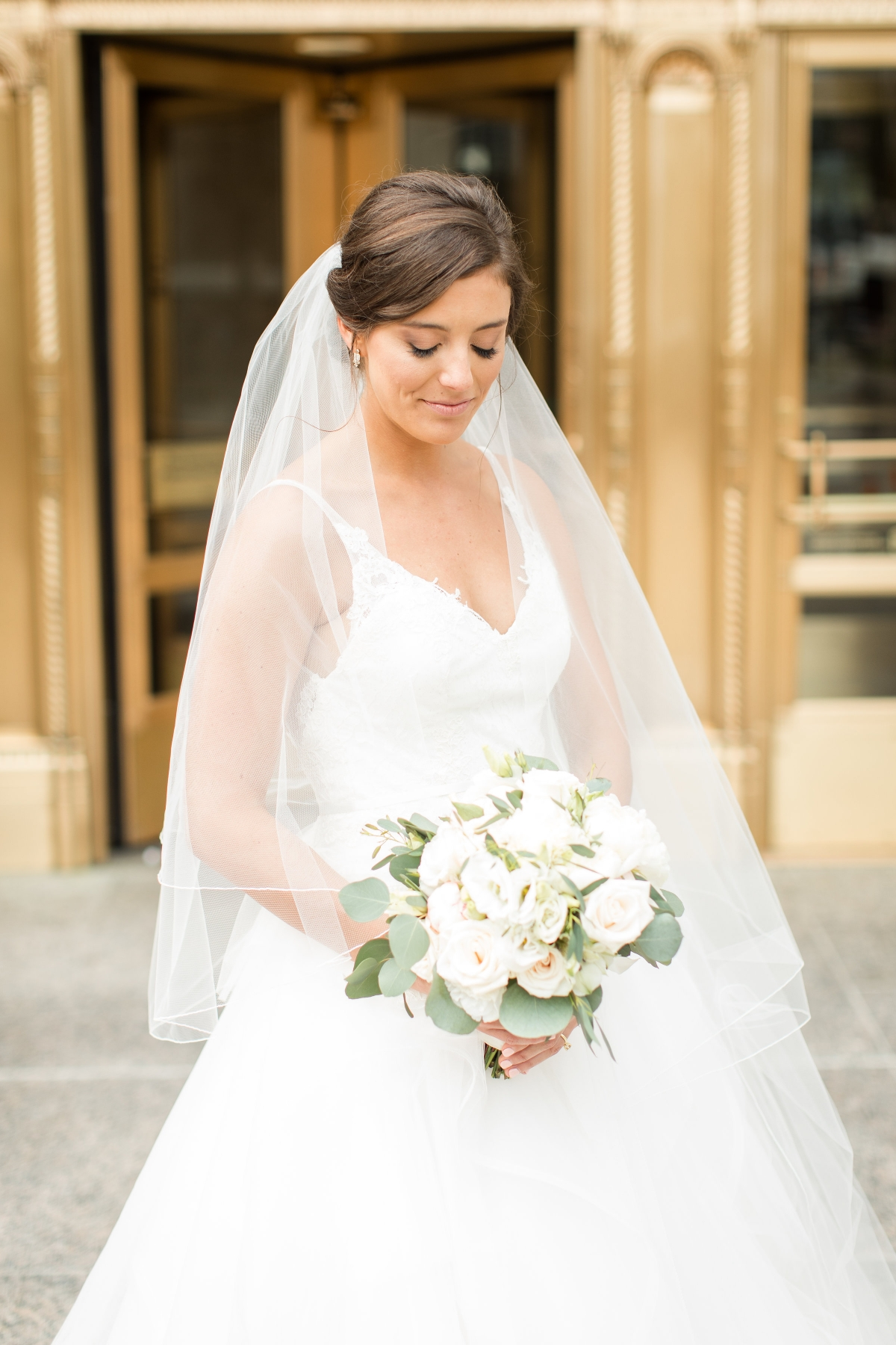 Chicago Bride at Wrigley Building