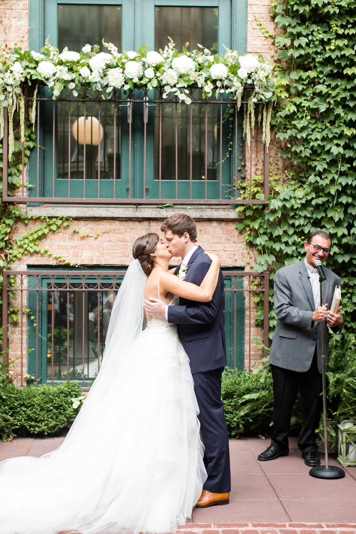 Chicago Wedding Ivy Room Courtyard
