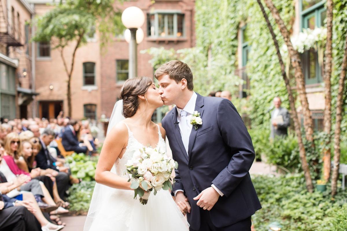 Chicago Wedding Ivy Room Courtyard