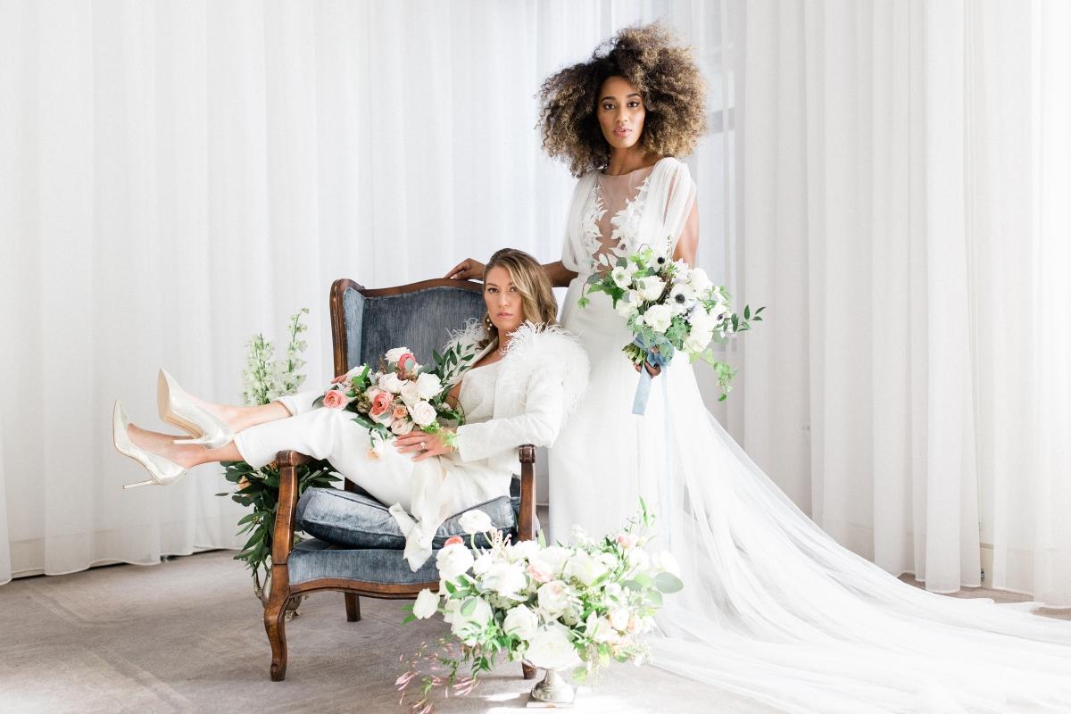 Romantic Modern Chicago Wedding Inspiration Two Brides 11