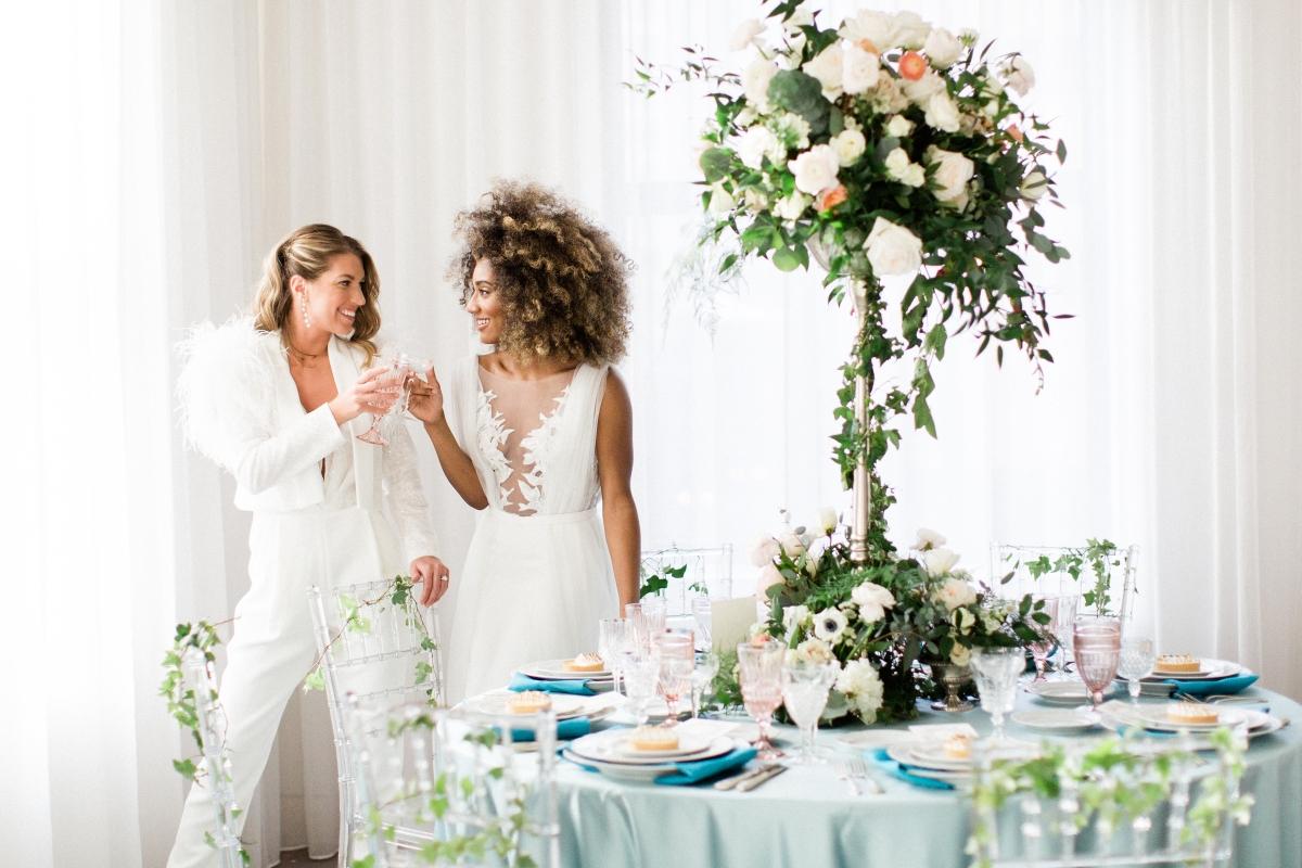 Romantic Modern Chicago Wedding Inspiration Two Brides 4
