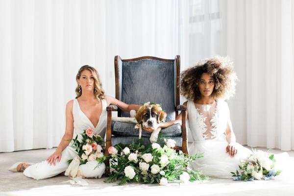 Romantic Modern Chicago Wedding Inspiration Two Brides (9)