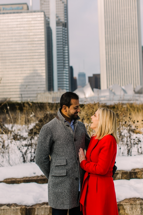 Winter Chicago Skyline Engagement Session Artistrie Co (16)