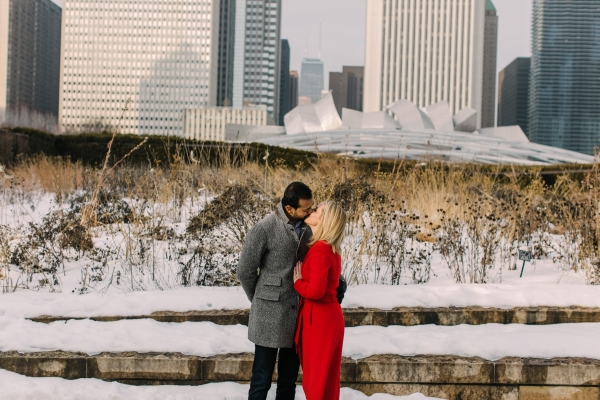 Winter Chicago Skyline Engagement Session Artistrie Co (17)