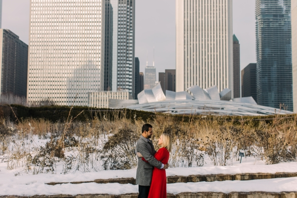 Winter Chicago Skyline Engagement Session Artistrie Co (18)