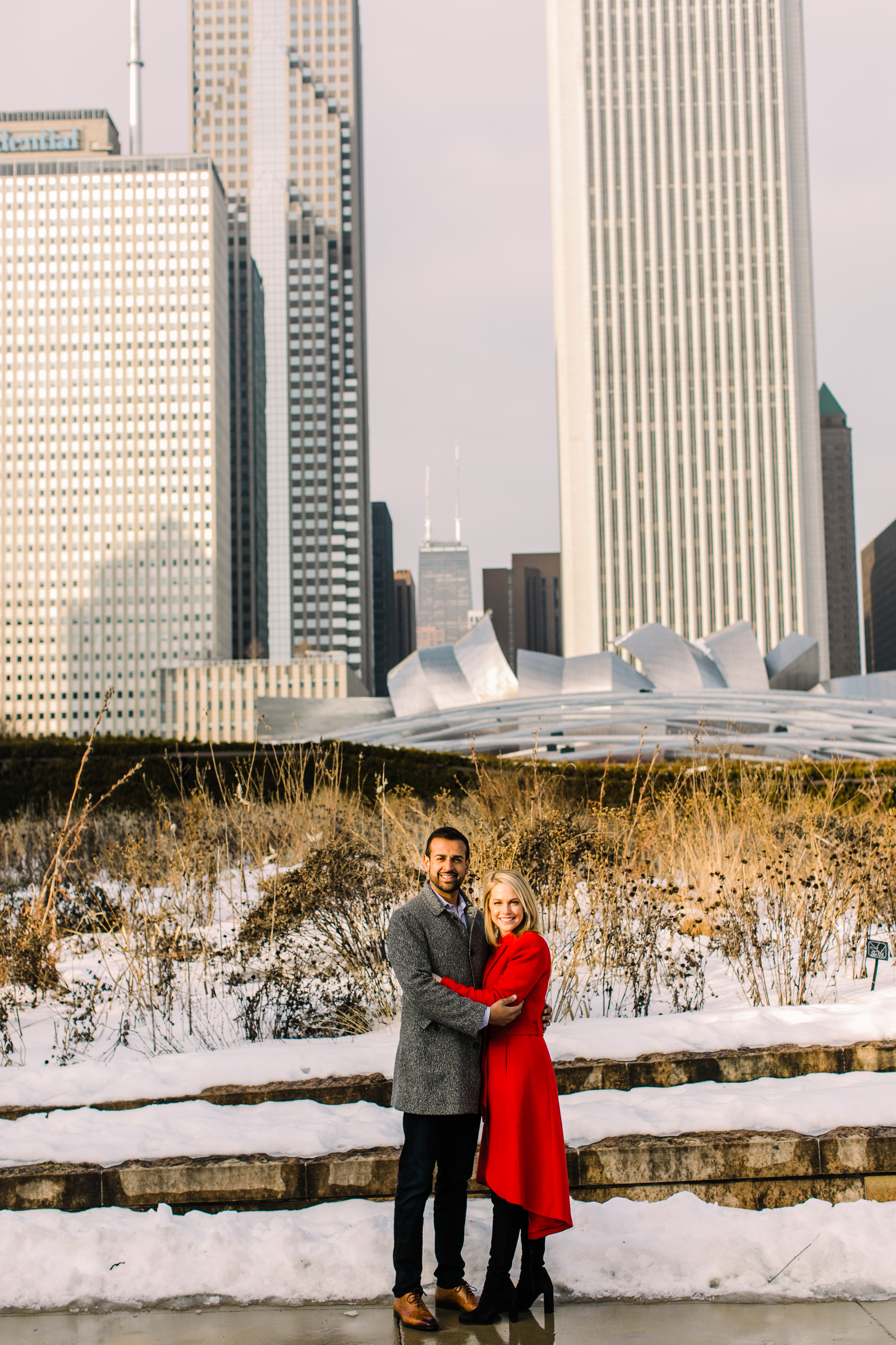 Winter Chicago Skyline Engagement Session Artistrie Co (19)