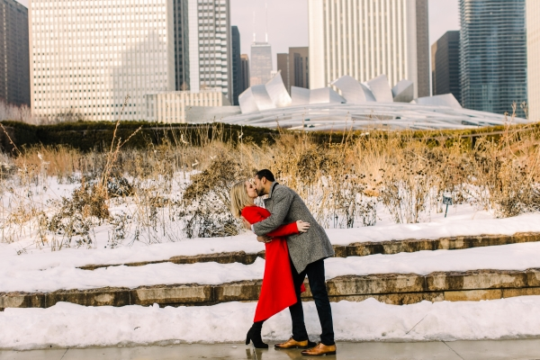 Winter Chicago Skyline Engagement Session Artistrie Co (20)