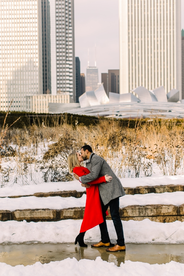Winter Chicago Skyline Engagement Session Artistrie Co (21)