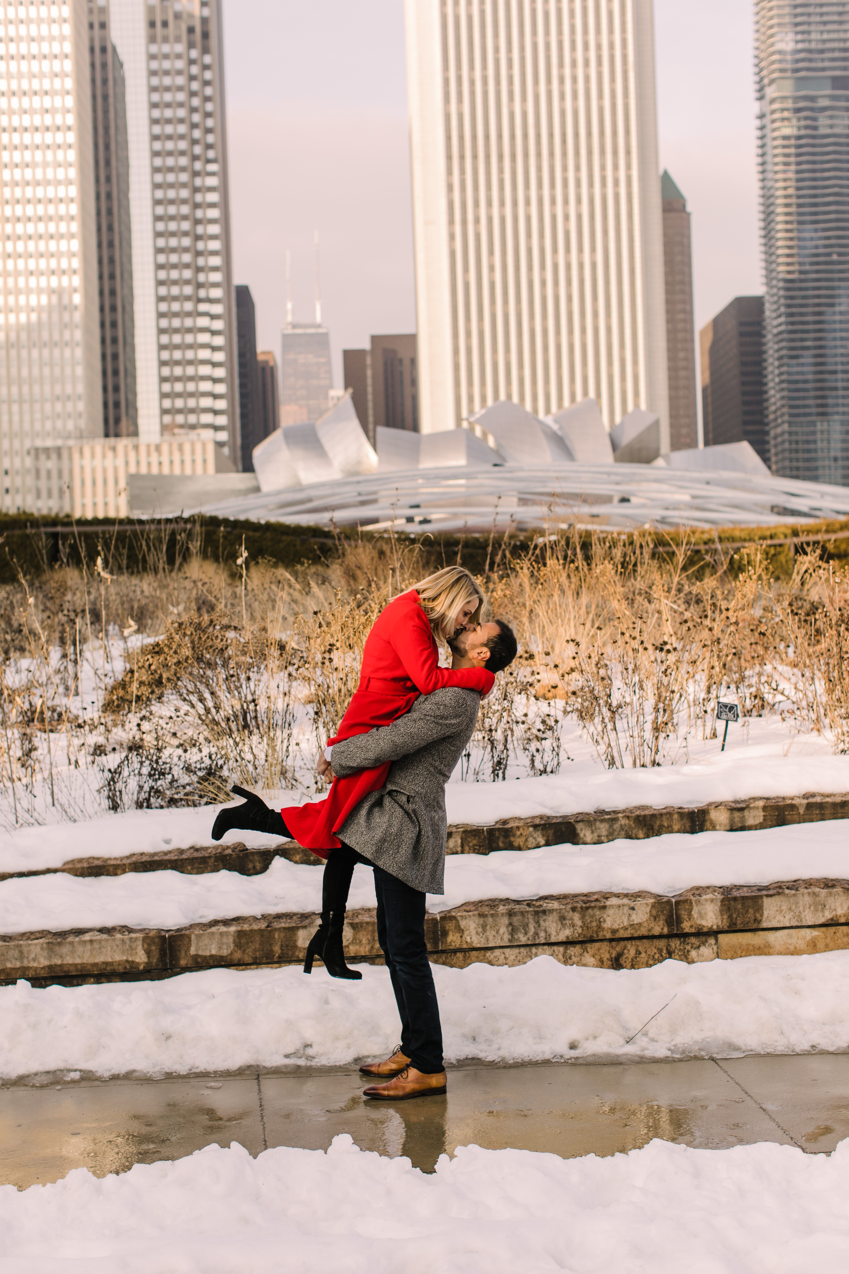 Winter Chicago Skyline Engagement Session Artistrie Co (22)