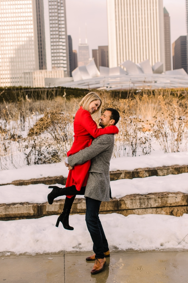 Winter Chicago Skyline Engagement Session Artistrie Co (23)