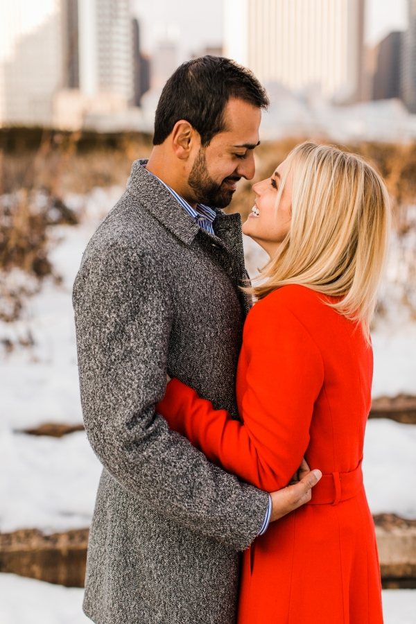 Winter Chicago Skyline Engagement Session Artistrie Co (24)