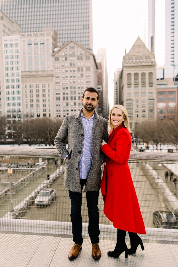 Winter Chicago Skyline Engagement Session Artistrie Co (26)
