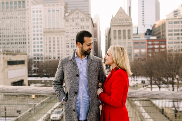 Winter Chicago Skyline Engagement Session Artistrie Co (27)
