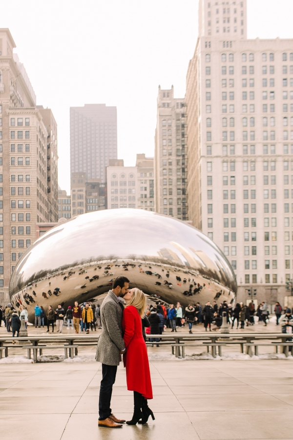 Winter Chicago Skyline Engagement Session Artistrie Co (32)