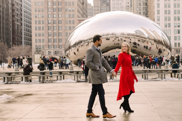 Winter Chicago Skyline Engagement Session Artistrie Co (34)