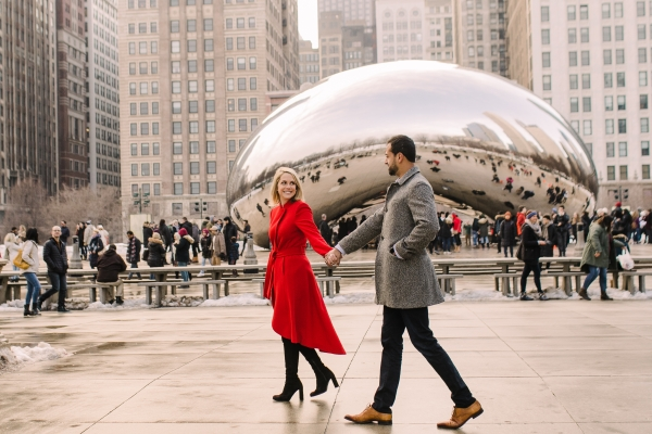 Winter Chicago Skyline Engagement Session Artistrie Co (35)