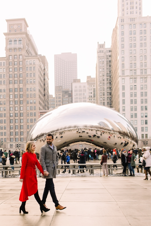 Winter Chicago Skyline Engagement Session Artistrie Co (36)