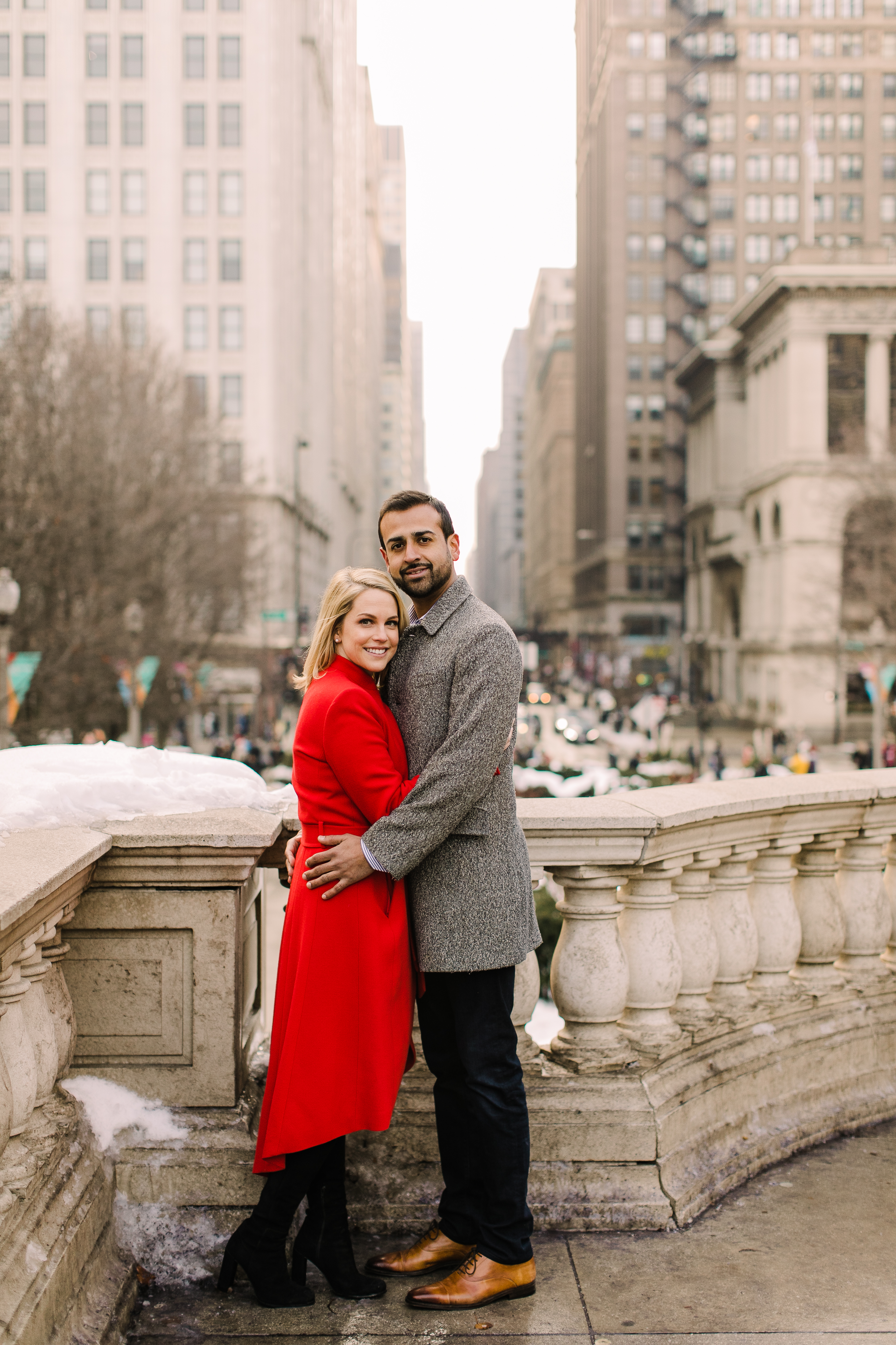 Winter Chicago Skyline Engagement Session Artistrie Co (42)