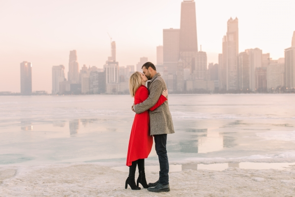 Winter Chicago Skyline Engagement Session Artistrie Co (43)