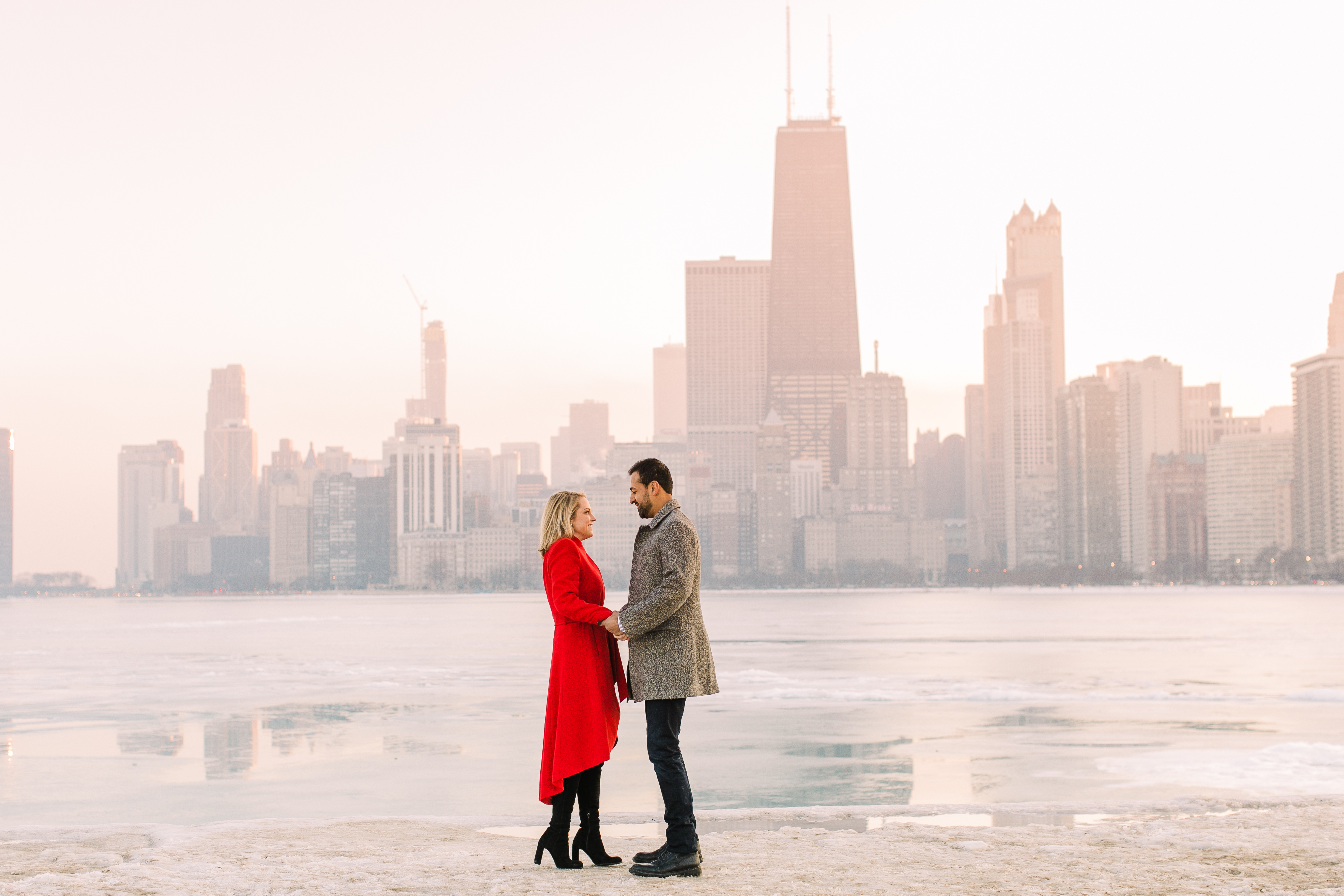 Winter Chicago Skyline Engagement Session Artistrie Co (44)