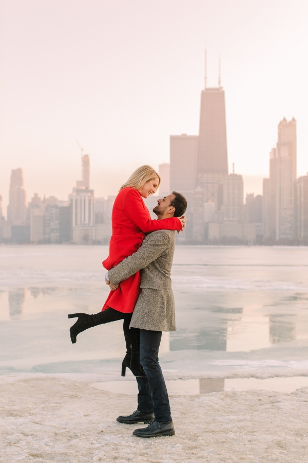 Winter Chicago Skyline Engagement Session Artistrie Co (46)