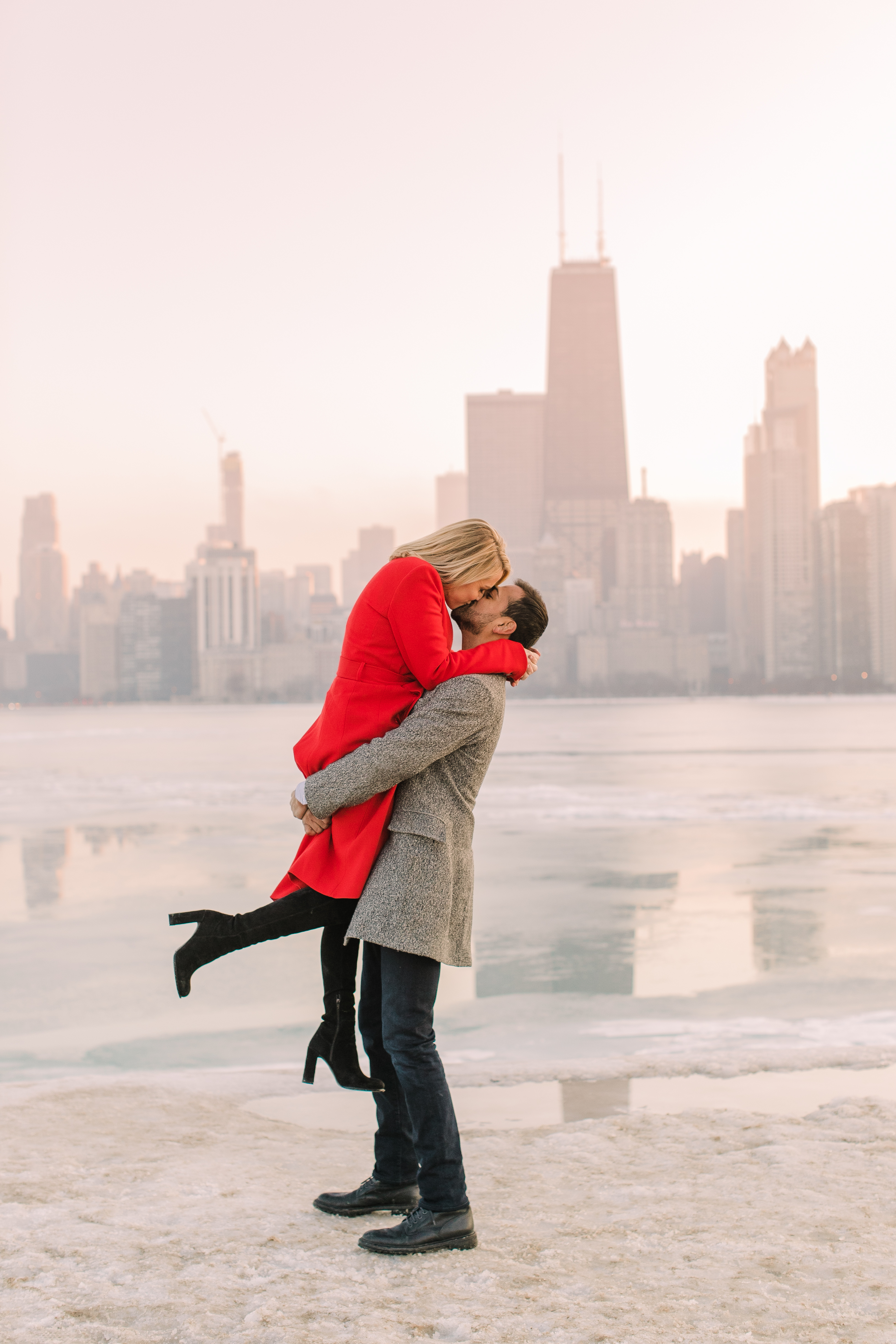 Winter Chicago Skyline Engagement Session Artistrie Co (47)
