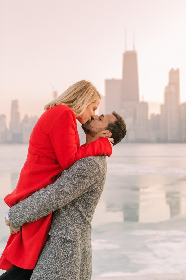 Winter Chicago Skyline Engagement Session Artistrie Co (48)