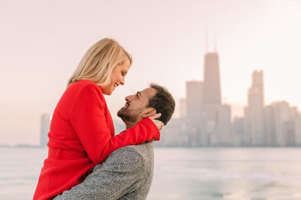 Winter Chicago Skyline Engagement Session Artistrie Co (49)