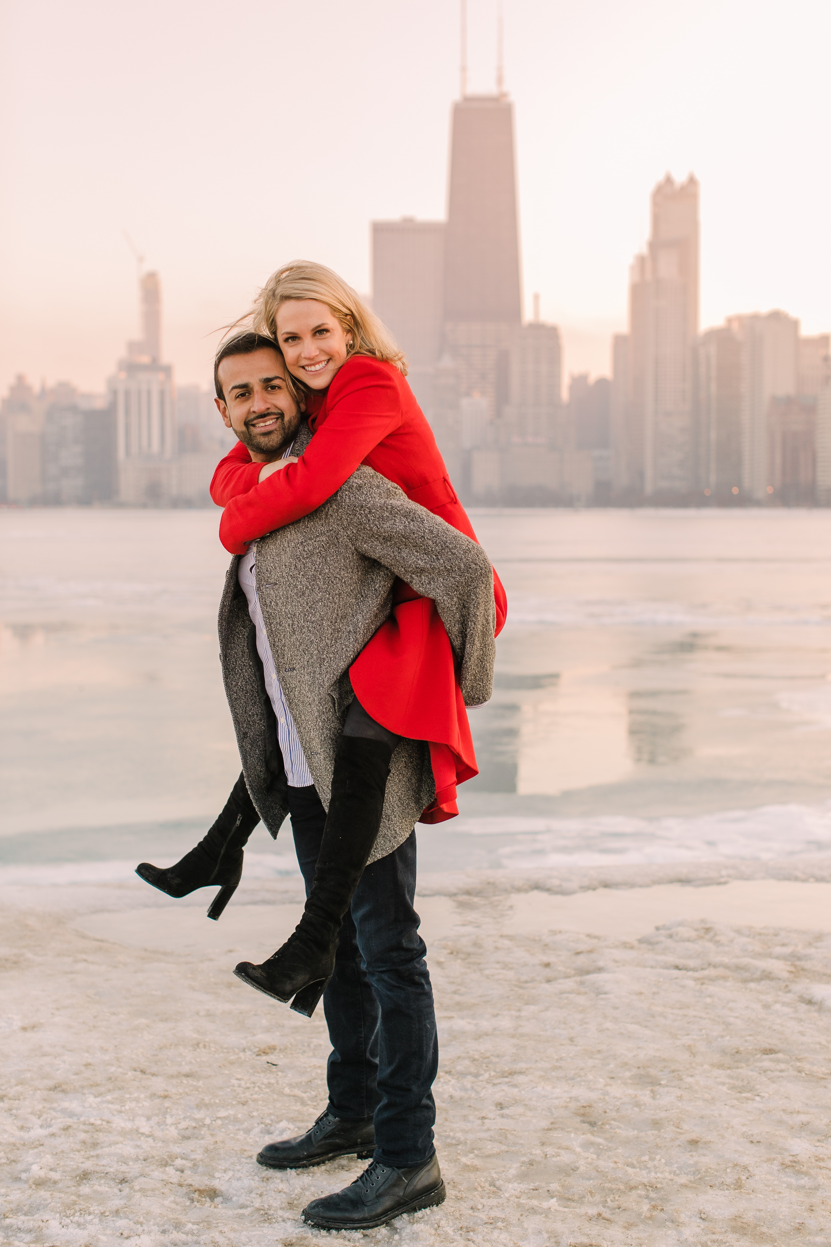 Winter Chicago Skyline Engagement Session Artistrie Co (50)