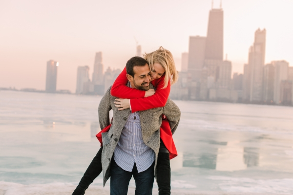 Winter Chicago Skyline Engagement Session Artistrie Co (51)