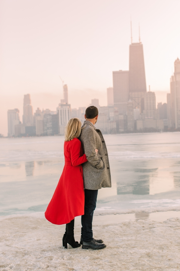 Winter Chicago Skyline Engagement Session Artistrie Co (52)