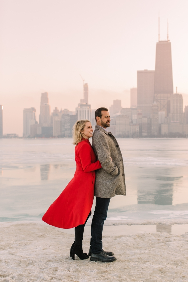 Winter Chicago Skyline Engagement Session Artistrie Co (53)