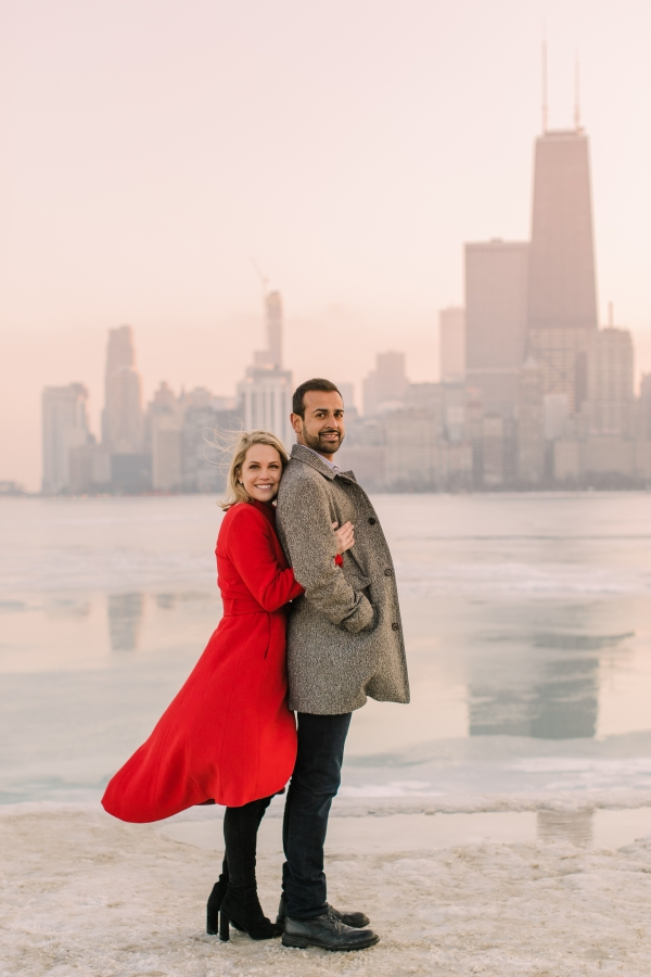 Winter Chicago Skyline Engagement Session Artistrie Co (54)