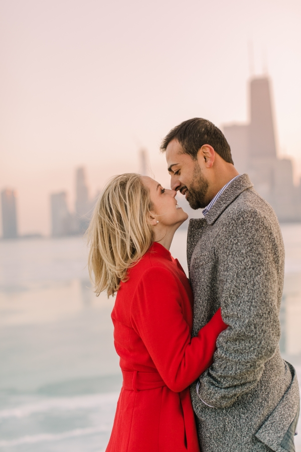 Winter Chicago Skyline Engagement Session Artistrie Co (55)