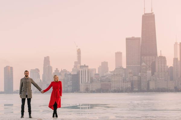 Winter Chicago Skyline Engagement Session Artistrie Co (56)