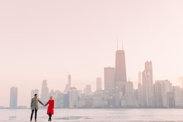 Winter Chicago Skyline Engagement Session Artistrie Co (57)