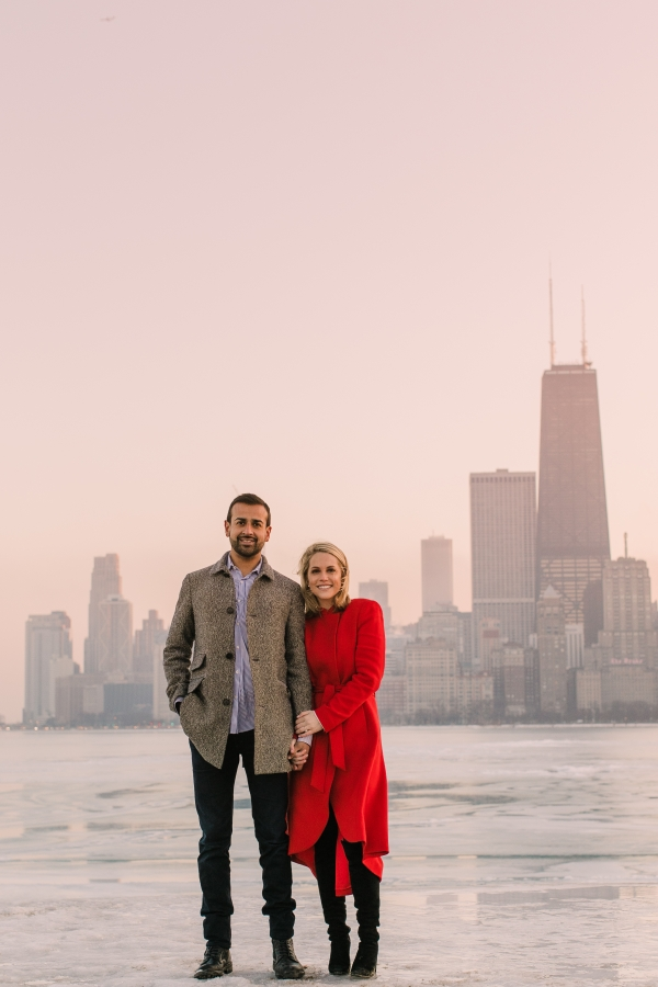 Winter Chicago Skyline Engagement Session Artistrie Co (58)