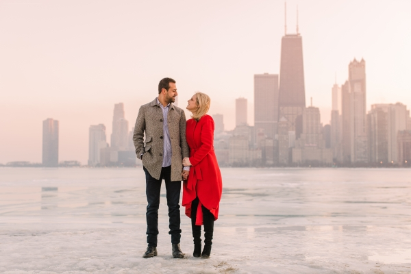 Winter Chicago Skyline Engagement Session Artistrie Co (59)