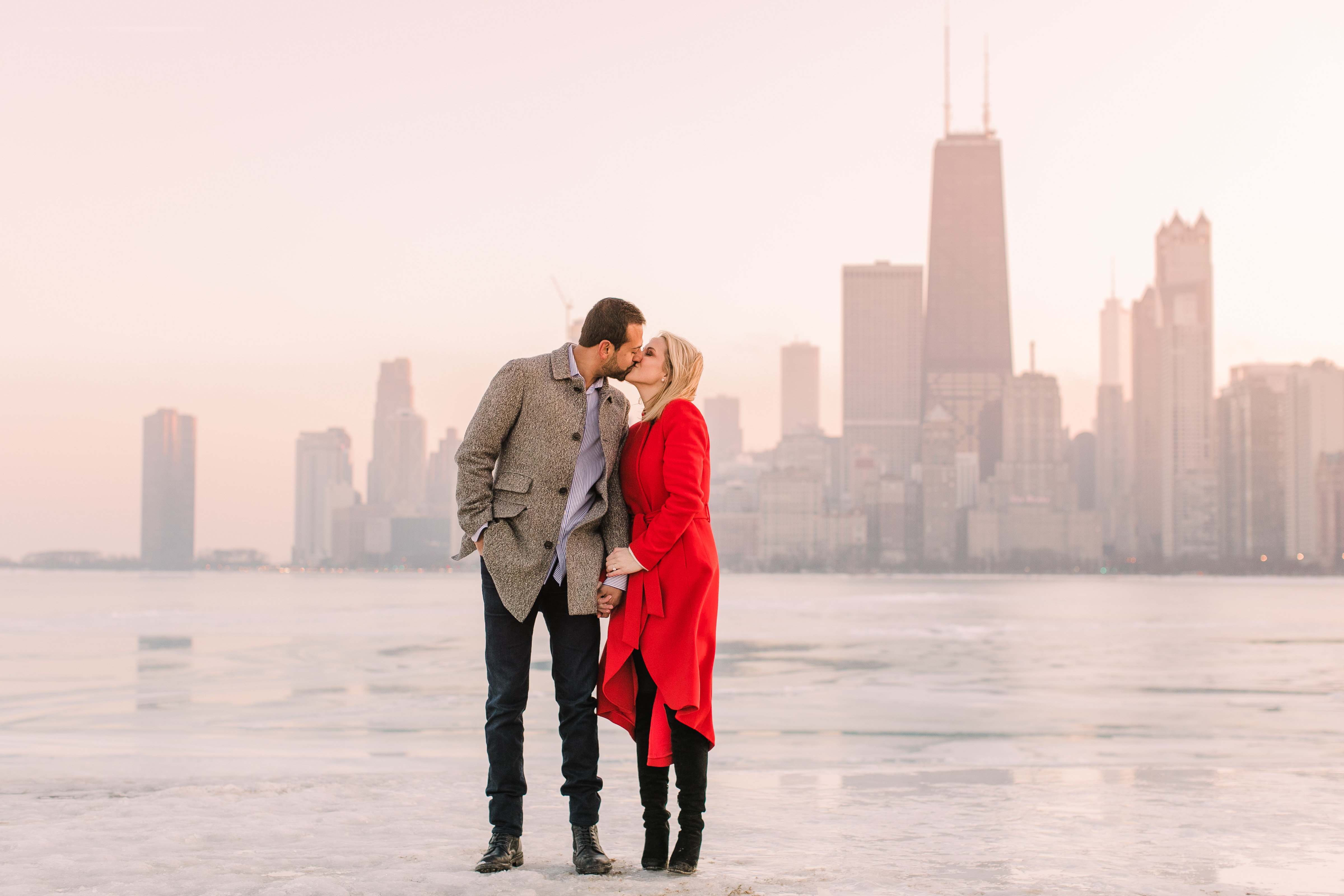 Winter Chicago Skyline Engagement Session Artistrie Co (60)