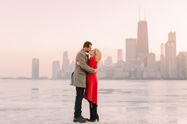 Winter Chicago Skyline Engagement Session Artistrie Co (61)