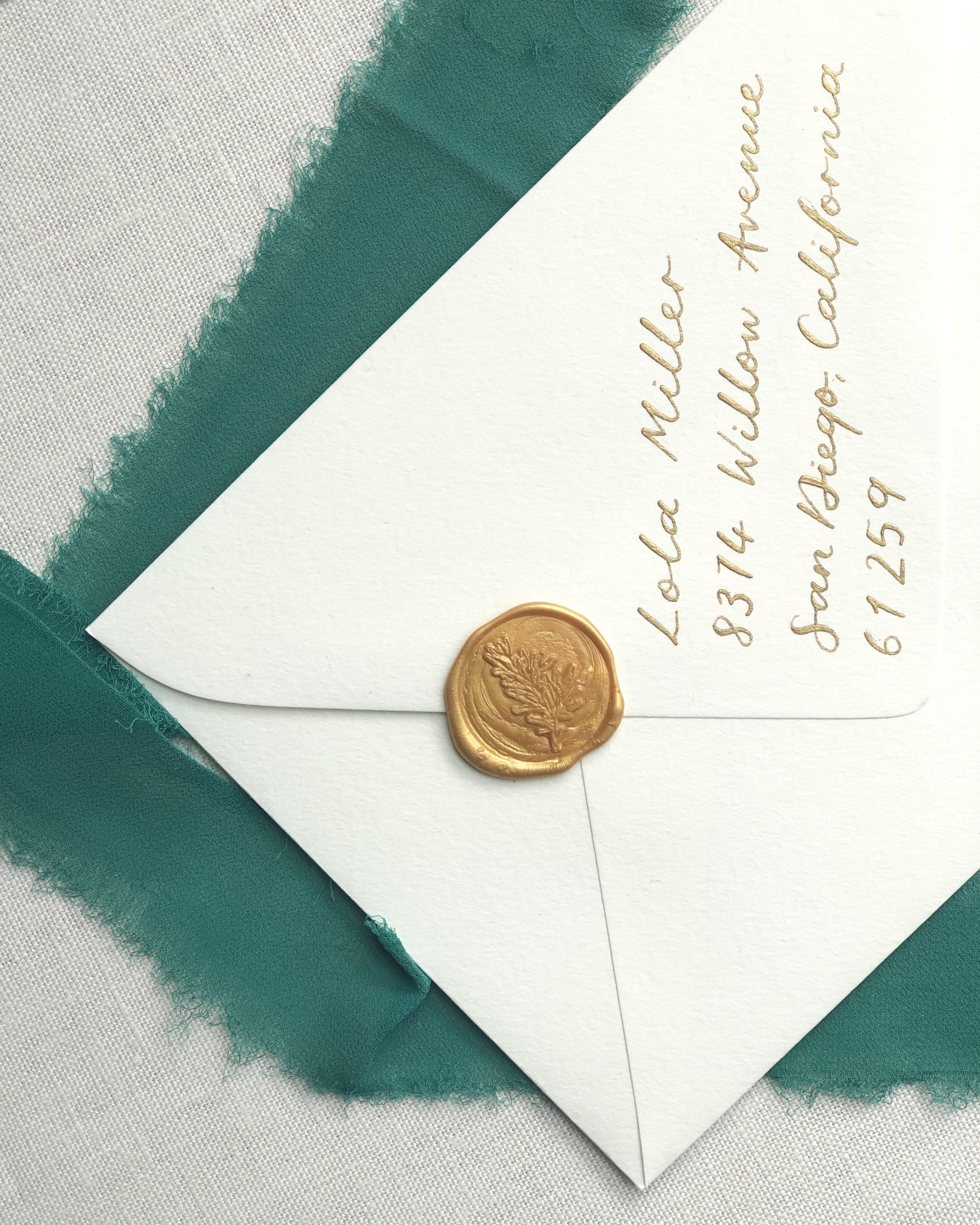 Inner Envelope Calligraphy
