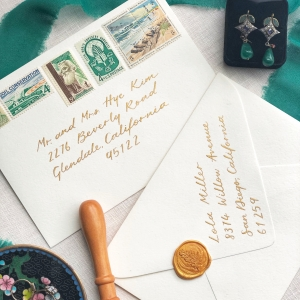 Envelope Calligraphy with Wax Seal