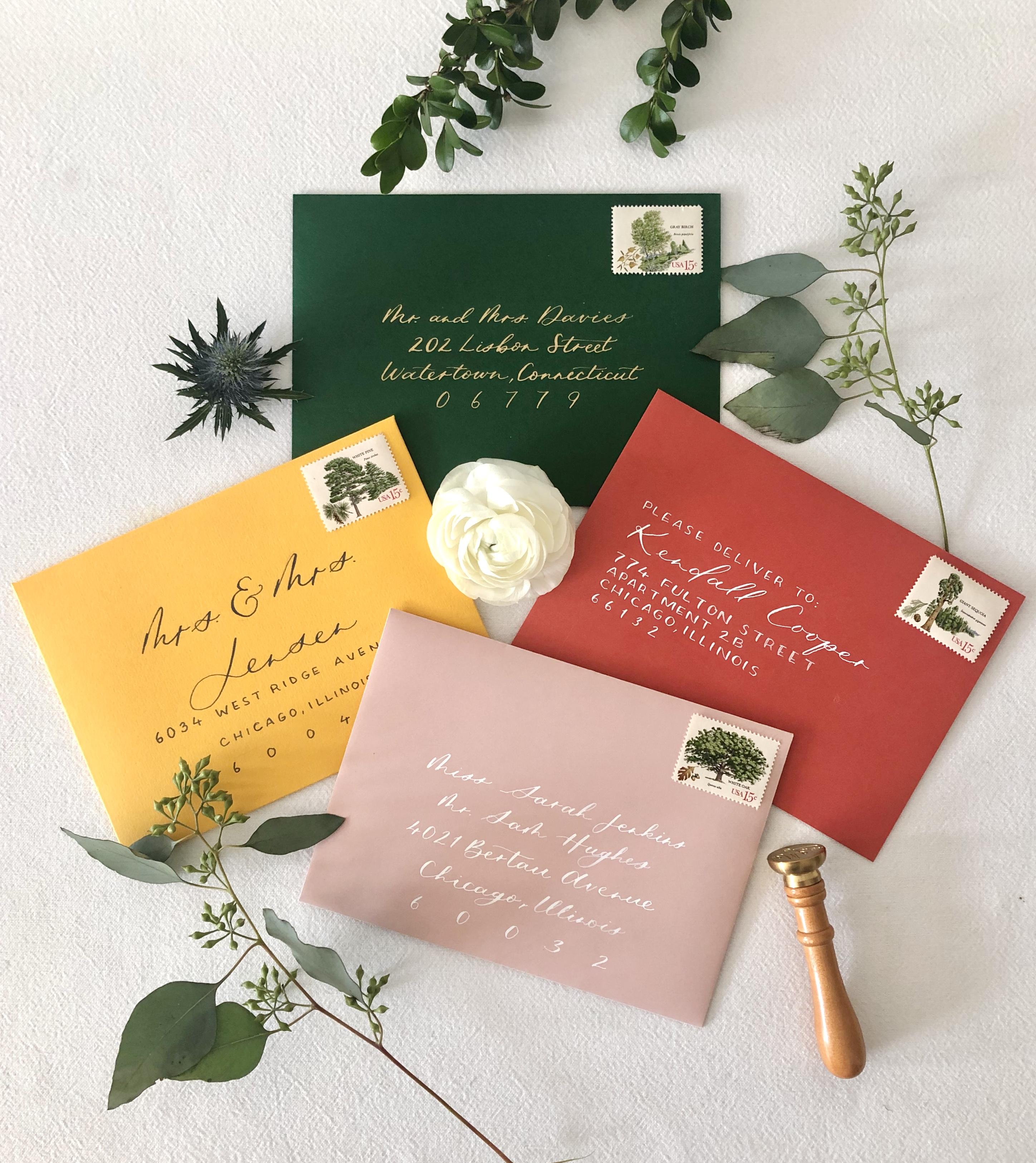 Envelope Calligraphy Styles