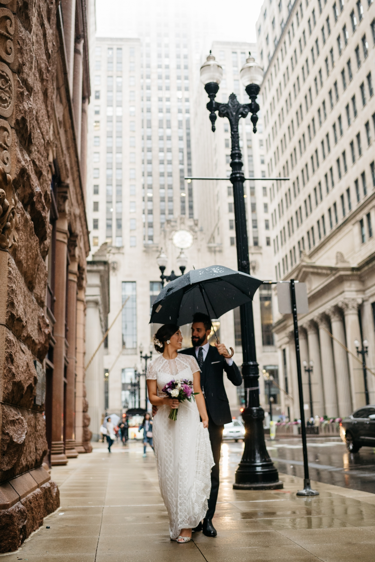 Chicago Rainy Day Loft Wedding Jayne Weddings 13