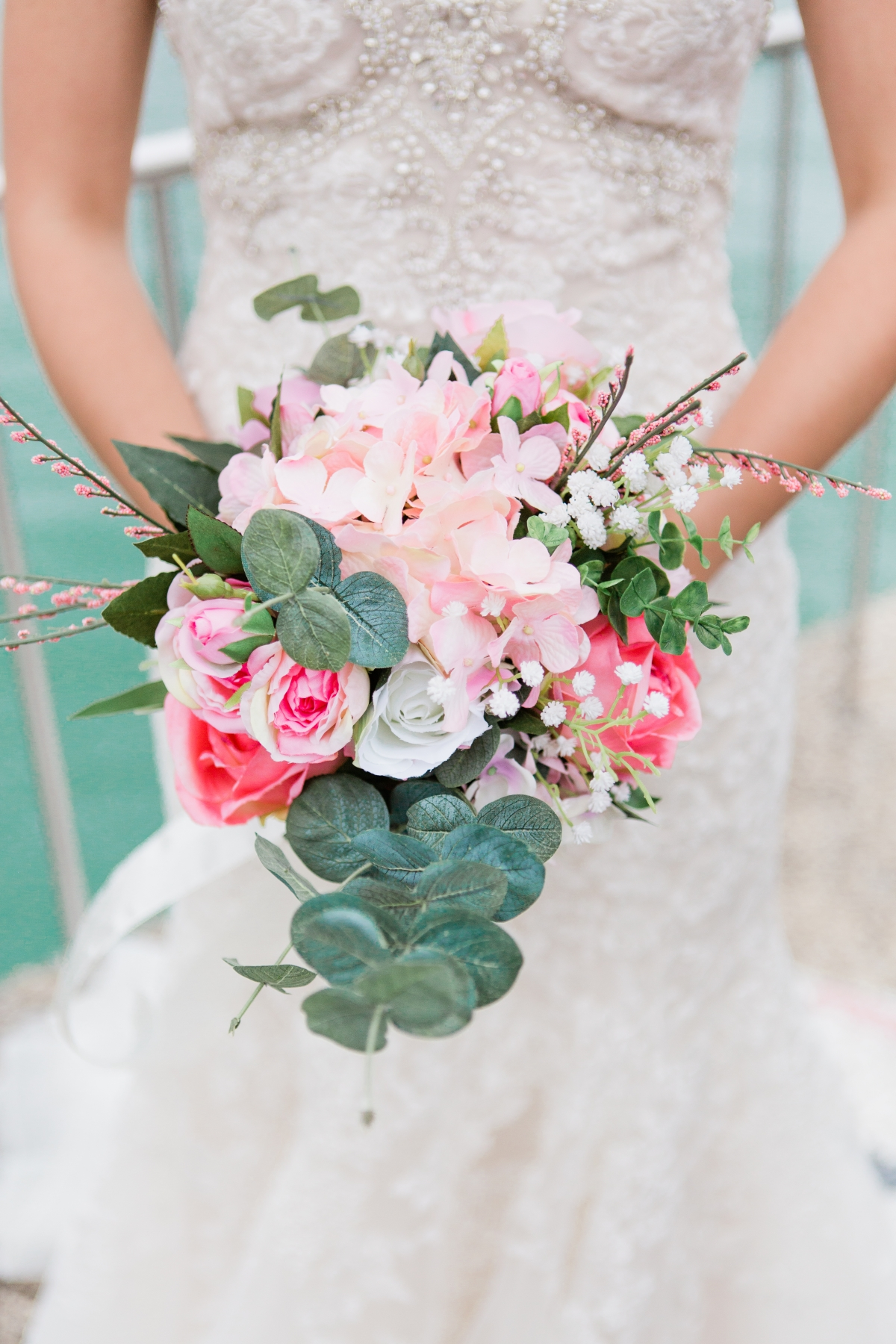 DIY Pink Bride Bouquet