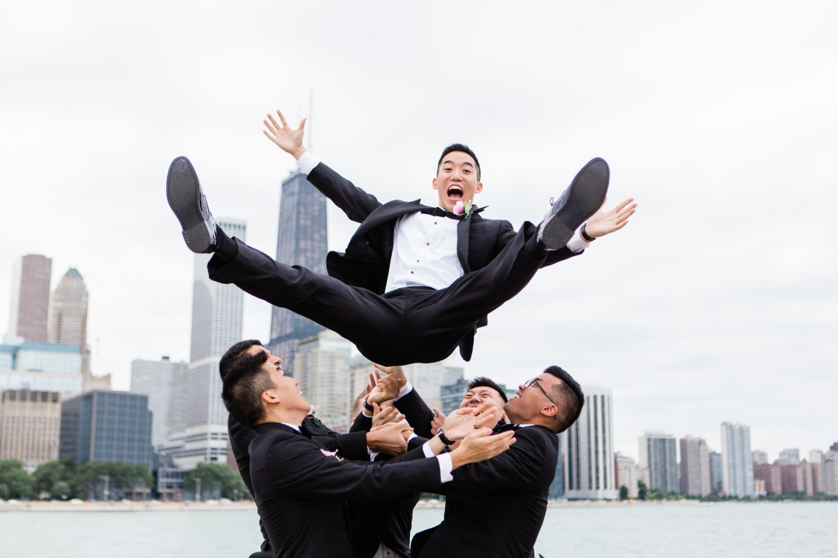Groom Flying through the Air