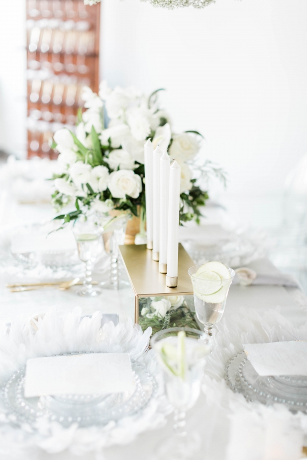 White and Gold Wedding Table