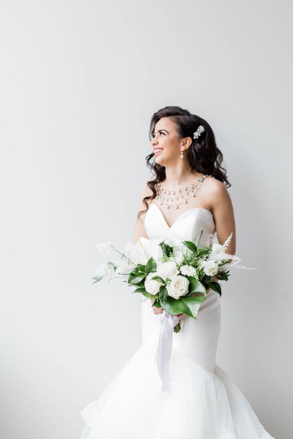 Bride in Allure Bridals Dress