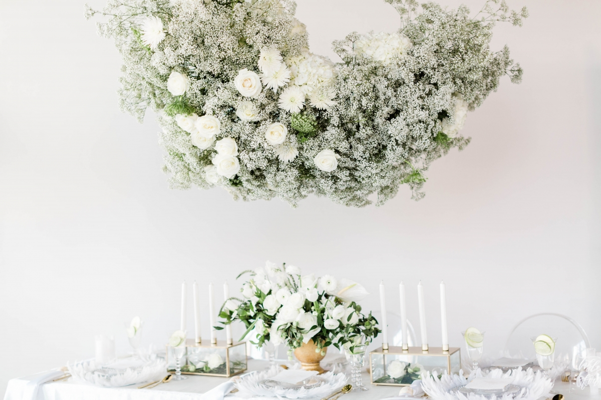 Baby's Breath Hanging Chandelier